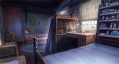 Tgwltt the girl who leapt through time Paisajes Anime, Environment Concept Art, Environment Design, Light Painting, Matte Painting, Angel Sketch, Cartoon Background, The Girl Who, Fantasy Places