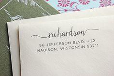 Custom Address Stamp Self Inking Address Stamp by TheYellowNote
