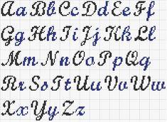 Cross stitch monogram