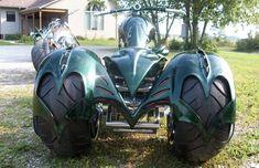 Pictures of Frankenstein Pic-Up Trike, Harley Davidson Trike conversion Kit Custom Moped, Custom Trikes, Custom Choppers, Custom Motorcycles, Trike Scooter, Trike Motorcycle, Motorcycle Style, Sportster Chopper, Sportster Iron