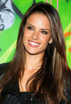 Alessandra Ambrosio Long Hairstyle: Straight Hair for Women under 50