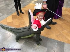 DIY baby costume ideas: Captain Hook getting Eaten by Tick Tock Croc