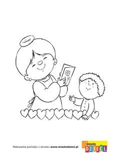 Dzień Babci i Dziadka - kolorowanki dla dzieci