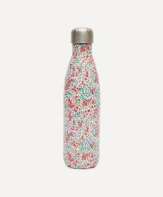 Liberty Fabric Wiltshire S'well Bottle | Liberty Liberty Fabric, Liberty Print, Barbecue Party, Luxury Pens, Thermal Bottle, Little Presents, Use Of Plastic, Stainless Steel Water Bottle, Bottle Design