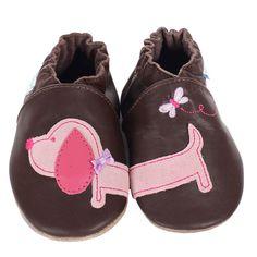Robeez - Robeez Girl Dachshund Soft Soles, $25.00 (http://www.myrobeez.com/robeez-girl-dachshund-soft-soles/)