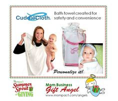 Bath towel, functional and adorable! #SSGiving ss_cuddlecloth
