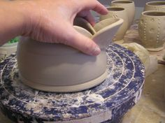 A step by step tutorial on a gravy boat by Fine Mess Pottery: New Take on a Classic