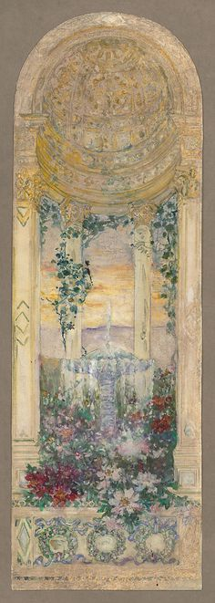 Design for a mosaic or a window  by Louis Comfort Tiffany, late 19th–early 20th century.