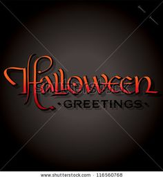 HALLOWEEN hand lettering - handmade calligraphy, vector (eps8) - stock vector #download #stock #StockImages #microstock #royaltyfree #vectors #calligraphy #HandLettering #lettering #design #letterstock #silhouette #decor #printable #printables #craft #diy #card #cards #label #tag #sign #vintage #typography