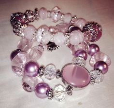 BREAST CANCER AWARENESS Bracelets Designed by Purple Passion. Beautiful High Quality Beads. Single stranded one size fits all. Only $28.00 includes FREE SHIPPING. Type SOLD under picture with your EMAIL ADDRESS to receive your invoice. A portion of all proceeds from the sale of Cancer Awareness Bracelets will be donated to the AMERICAN CANCER SOCIETY