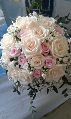 Follow us @SIGNATUREBRIDE on Instagram and Twitter and on FACEBOOK @ SIGNATURE BRIDE MAGAZINE Flower Bouquet Wedding, Bride Bouquets, Floral Bouquets, Wedding Dress Cake, Pink Bouquet, Prom Flowers, Bridal Flowers, Floral Wedding, Elegant Wedding Cakes