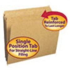 Desk Supplies>Desk Set / Conference Room Set>Holders> Files & Letter holders: Kraft File Folders, Straight Cut, Reinforced Top Tab, Letter, Kraft, 100/Box