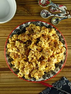 Toasted Sesame Almond Caramel Popcorn