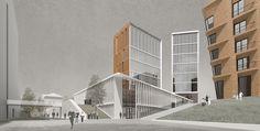 Многофункциональный жилой комплекс в городском квартале 473 района Хамовники : Sergey Skuratov Architects