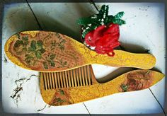 """set of combs """"Roses"""""""