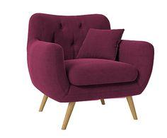 Butaca Renne, violeta - 98x88 cm