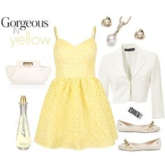 žlté šaty s vypaľovanou čipkou