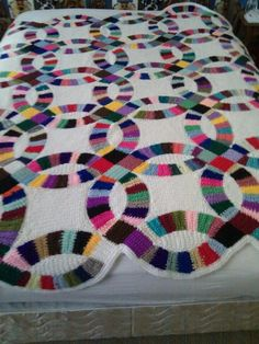 Wedding ring crochet blanket/quilt/afghan