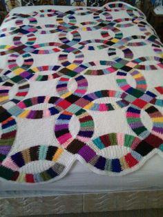 Free Crochet Wedding Ring Quilt Pattern : Wedding Ring Crochet Quilt Quilt, Wedding and Wedding ring