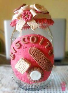 Biscuit no pote para biscoitos
