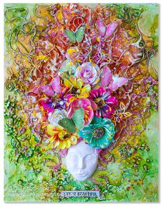 LikeArtStudio by Ola Khomenok: Spring Goddess. Mixed Media on canvas.