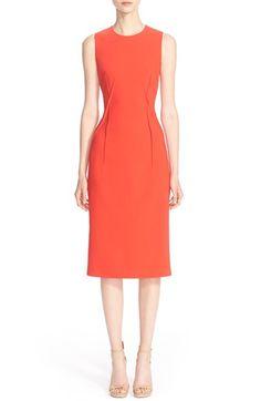 Michael Kors Stitch Detail Pebble Cady Sheath Dress