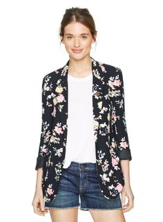 TALULA KENT BLAZER - The blazer goes femme with a soft and drapey shape, featuring a custom vintage-floral pattern