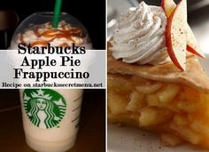 Apple Pie Frappuccino Fill to first line with cream base Fill to second line with apple juice Add cinnamon dolce syrup pump for a tall, for a grande, 2 for a venti) Add caramel syrup pump for a tall, for a grande, 2 for a venti) Starbucks Secret Menu Drinks, Starbucks Coffee, Starbucks Barista Training, Starbucks Hacks, Yummy Drinks, Yummy Food, Cinnamon Dolce Syrup, Coffee Recipes, Drink Recipes
