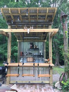 Outdoor kitchens with swings