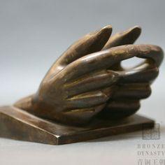 Open Hand Sculpture   Fashion bronze open hand art sculpture