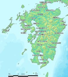 physical map kyushu