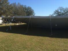 First poles for Sarasota Tent Rental