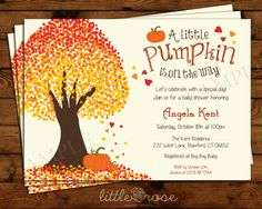 Hey, I found this really awesome Etsy listing at https://www.etsy.com/listing/197824072/little-pumpkin-baby-shower-invitation