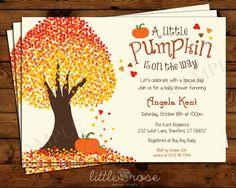 Little+Pumpkin+Baby+Shower+Invitation++Fall+by+LittleRoseStudio,+$12.00