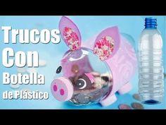 Cofrinho de porquinho feito com garrafa pet - YouTube