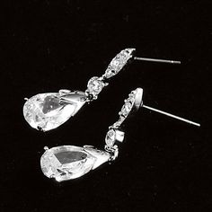 Charming Platinum Plated With Zircon Women's Drop Earrings – USD $ 7.39