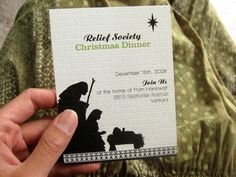 Relief Society invitations