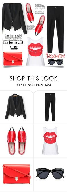 """""""Yoins 14"""" by aida-banjic ❤ liked on Polyvore featuring The Cambridge Satchel Company, Le Specs and yoins"""
