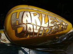 *** Custom Bobber, Custom Harleys, Custom Bikes, Harley Davidson Decals, Motos Harley Davidson, Candy Red, Helmet Paint, Custom Tanks, Motorcycle Tank