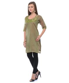 Buy cotton and chanderi silk kurti online at best price in India