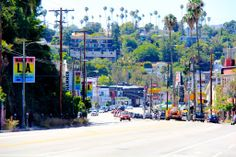 Sights along Sunset Blvd., Silver Lake, Los Angeles, CA