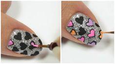 Cómo hacer diseño de corazones en las uñas paso a paso