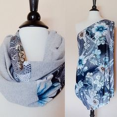 Nursing cover infinity scarf nursing scarf floral by KayBellaChic