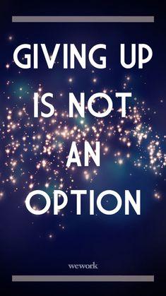 Not an Option /