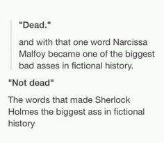 Dont know whether to pin this to HP or Sherlock, so I'm going with Fandoms.<<<<I'm pinning to hp because idk I can Sherlock Bbc, Sherlock Fandom, Sherlock Humor, Sherlock Holmes Quotes, Watson Sherlock, Jim Moriarty, Harry Porter, Fangirl, Mrs Hudson