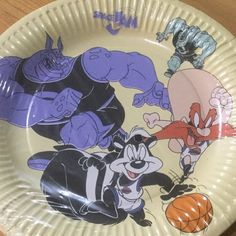 "203f02e7387 Lynn Farram on Instagram: ""Vintage 1996 Space Jam plates 🔥🔥🔥🔥🔥🔥🔥  Have the best tiny party with these 8 paper plates available on my #depop  shop (link ..."