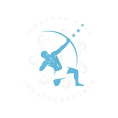 Orion Logo (despite the fact that Sagittarius is the archer, this was the client request). | jonathanorjack | logo design, mythology, branding, male figure, constellation, archer