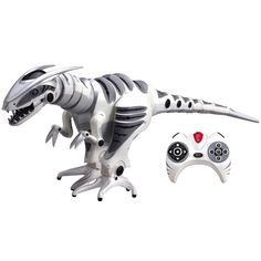 """WowWee® Store Roboraptor™ available in the store again!! Dinosaurs are back and roaming the earth in the 32"""" long Roboraptor™. With its advanced artificial intelligence personality, realistic biomorphic motions, direct control and autonomous (free-roam) modes, the Age of Dinosaurs has truly returned. #Robot #Dinosaur #Toy http://store.wowwee.com/robotics/roboraptor.html#?utm_source=Pinterest_medium=Pin_campaign=PinterestPin"""