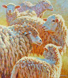 Rita Kirkman's Daily Paintings: Deep Sheep going to NYC!