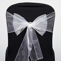 Efavormart 5pc x White Organza Chair Sash * Visit the image link more details. Note:It is affiliate link to Amazon.